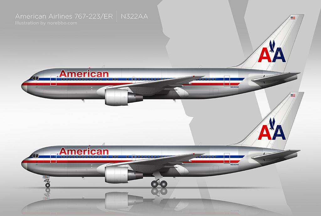american airlines 767-200 artwork