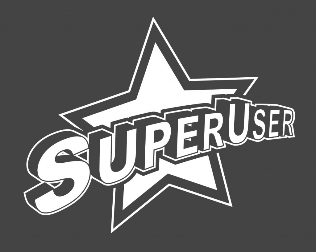 simple super user logo