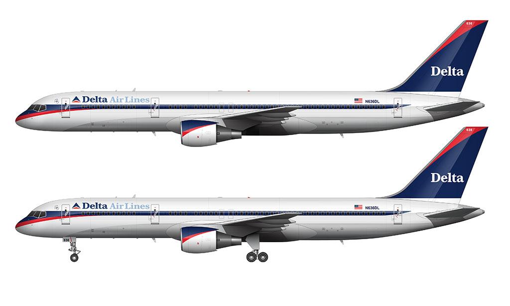 Delta Air Lines Boeing 757-200 Ron Allen livery