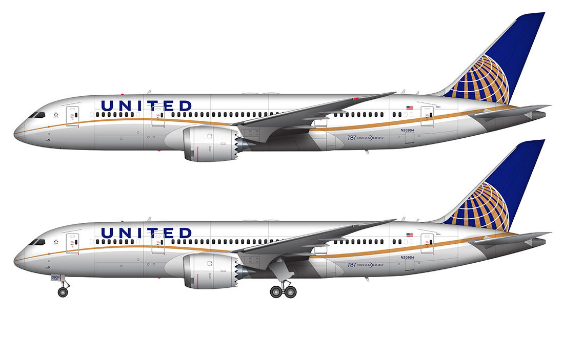 UA 787 drawing