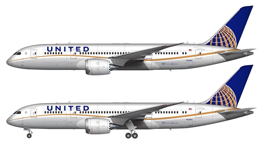 UA 787 drawing
