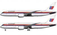 United 787-8 Saul Bass livery
