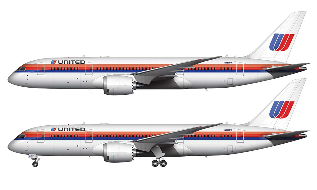 United 787-8 Saul Bass livery