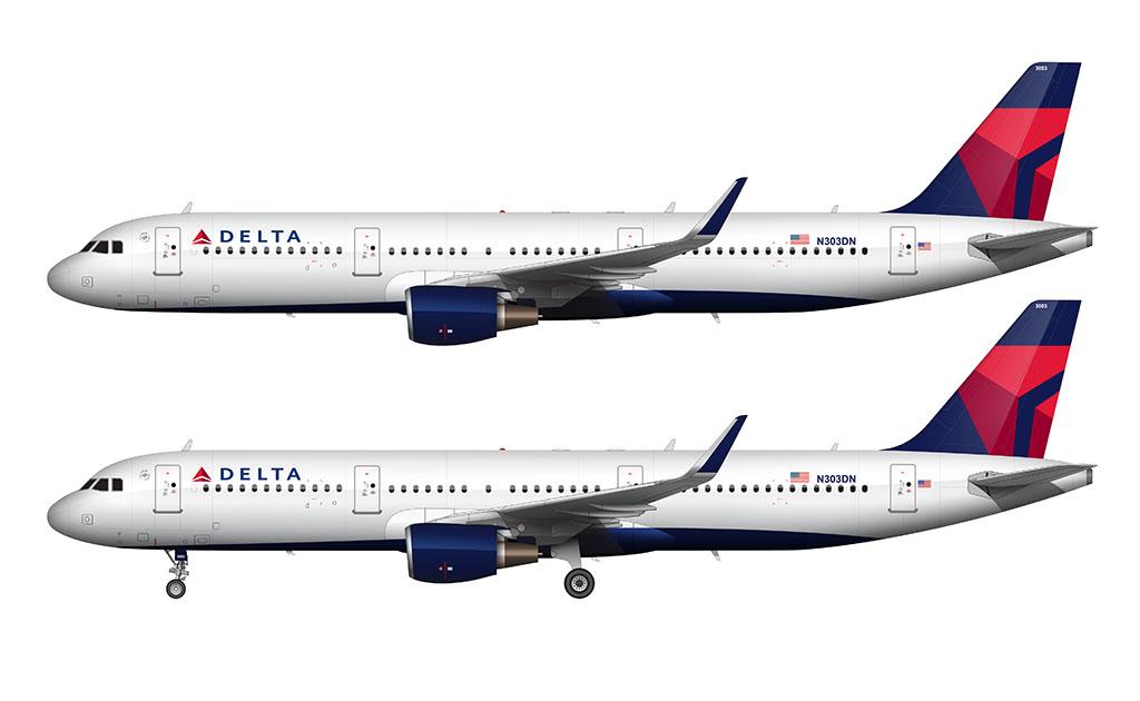 Delta 3d widget livery