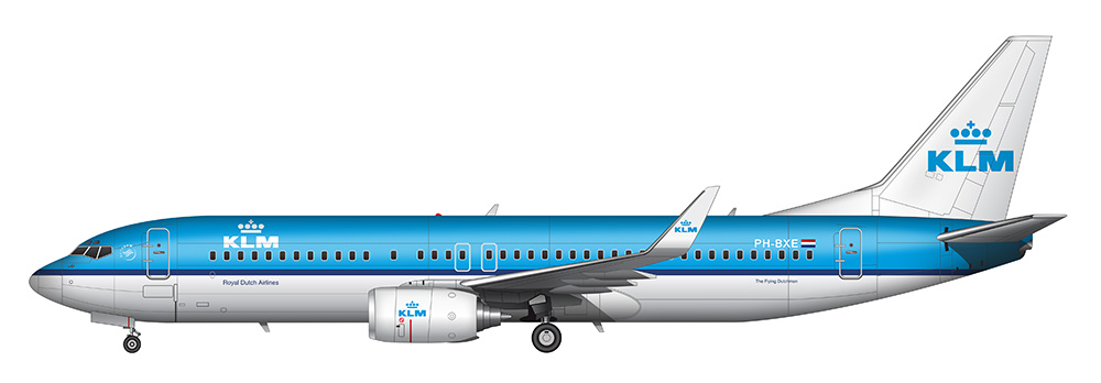 blue klm royal dutch airlines 737-800