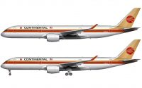 continental airlines A350 fantasy livery