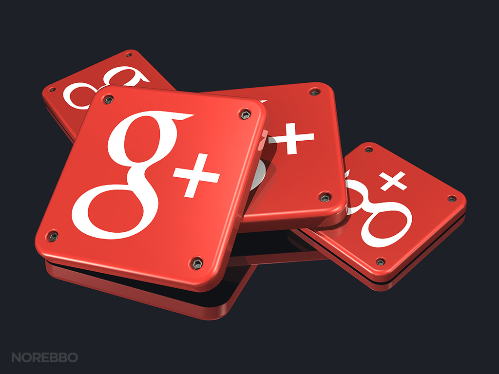 pile of google plus app icons