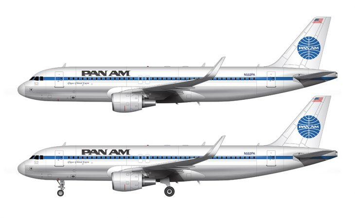 Pan Am A320 side view