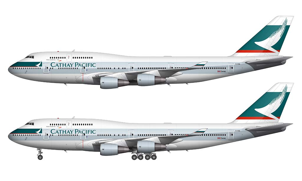 cathay pacific 747-400 side view