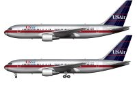 USAIr 767 side profile