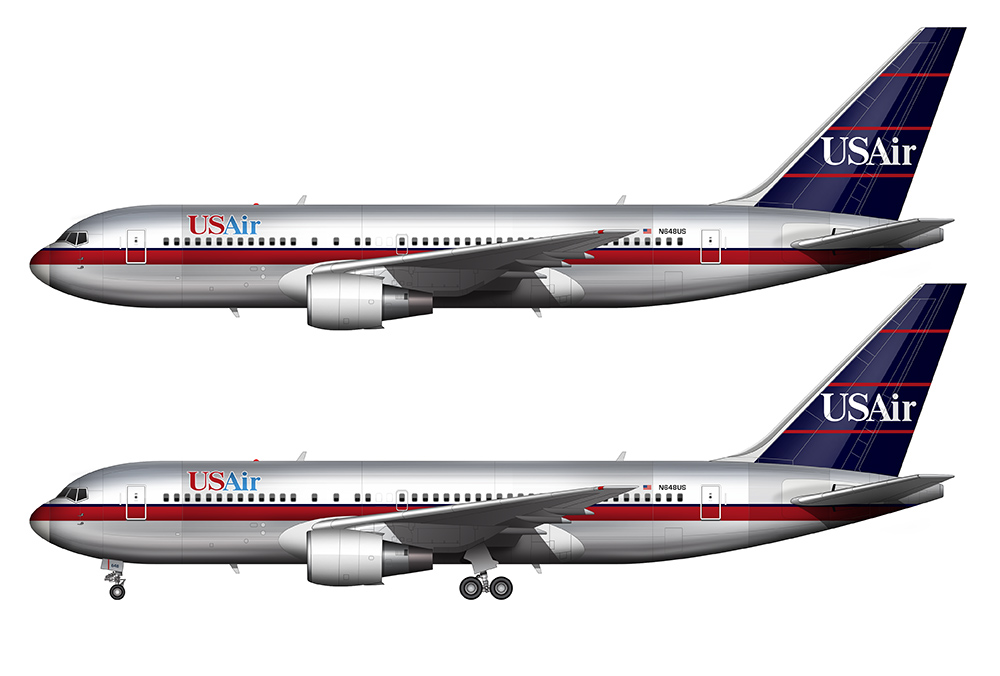 USAIr 767 side profile