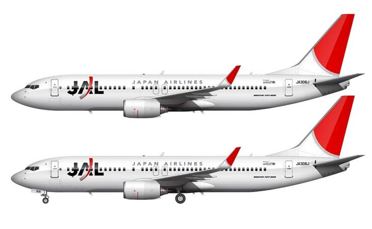 JAL boeing 737-800 drawing