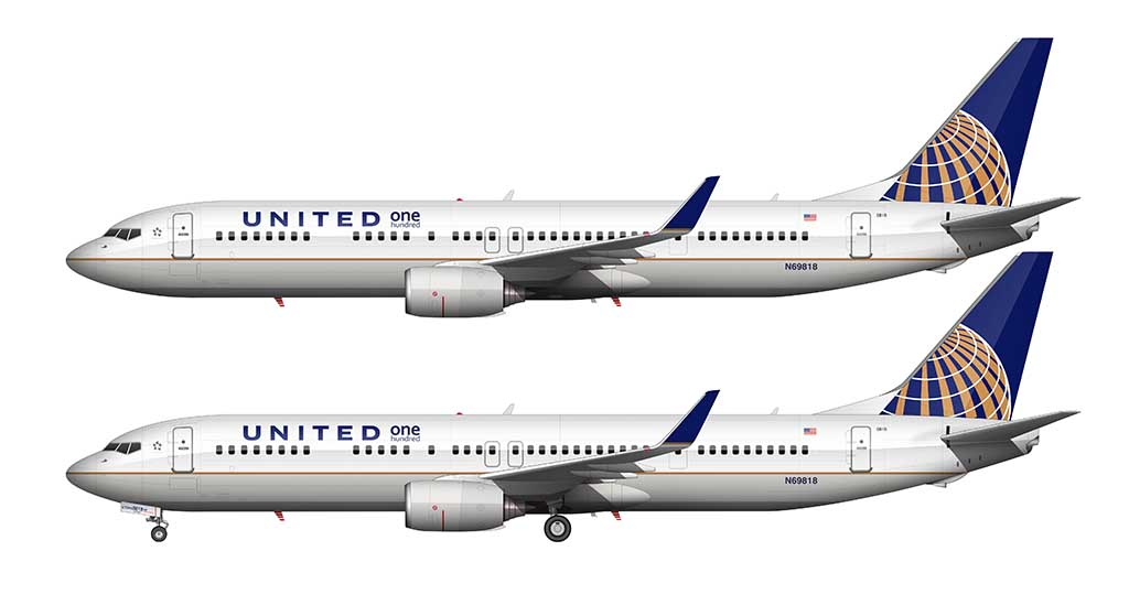 "United Airlines 737-900 ""One Hundred"""