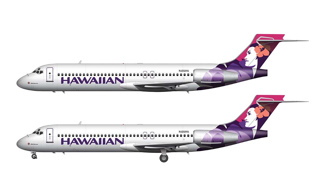 Hawaiian Airlines livery on 717