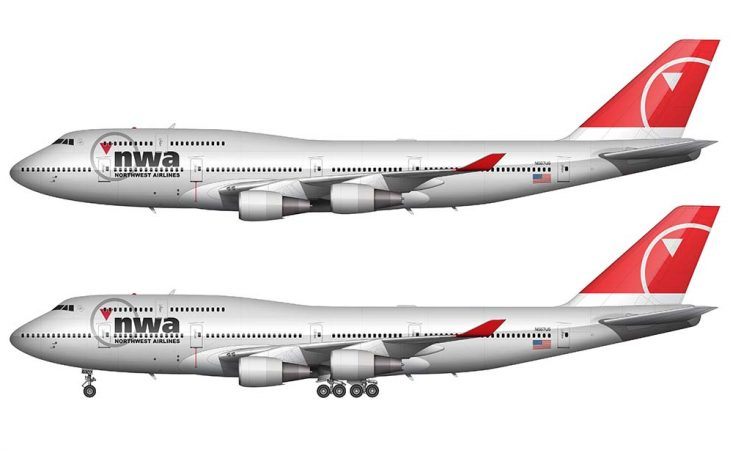 the final northwest airlines livery