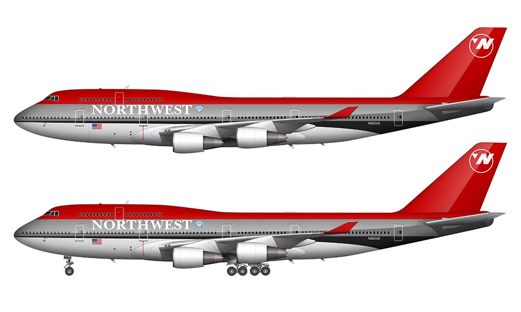 northwest airlines 747 bowling shoe colors