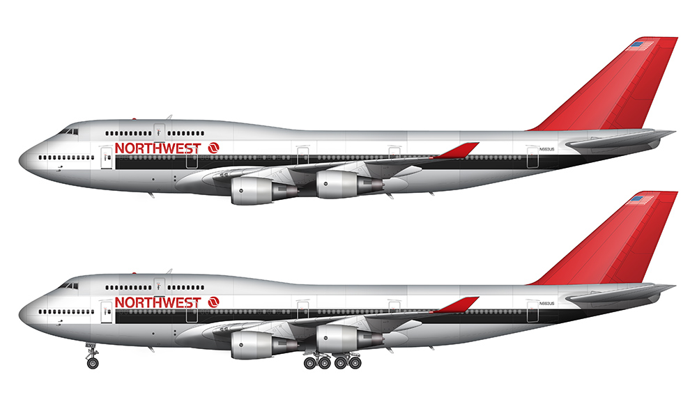 debut nw 747-400 color scheme