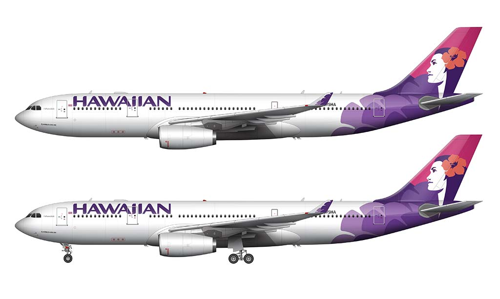 Hawaiian Airlines A330 livery