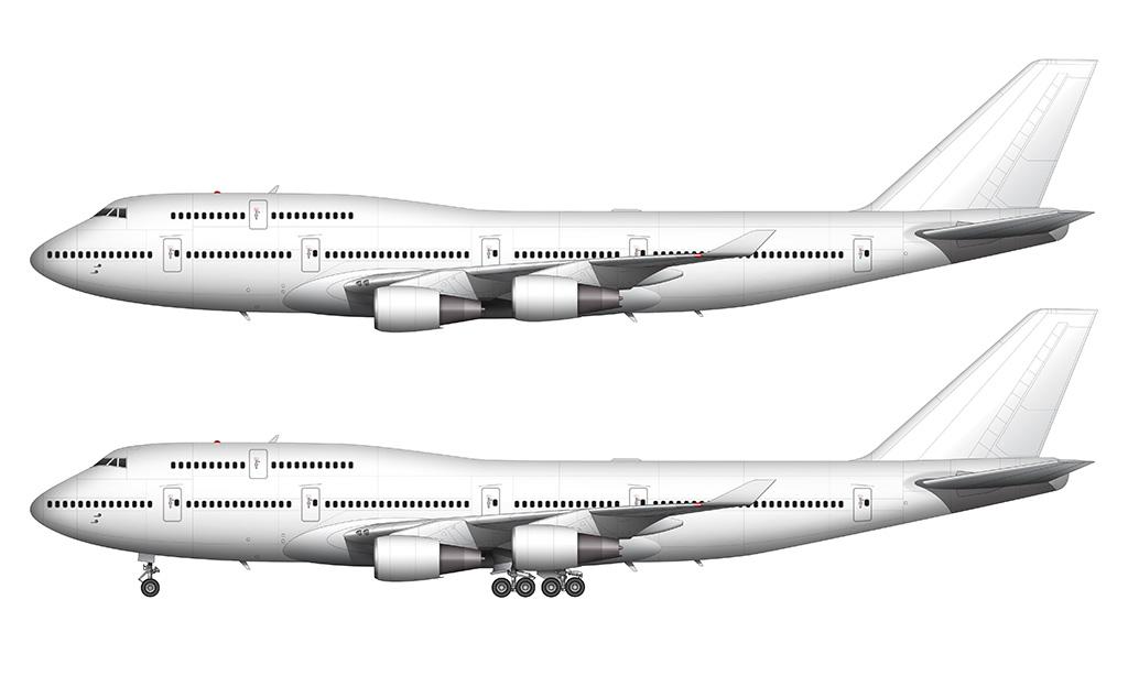 all white 747-400