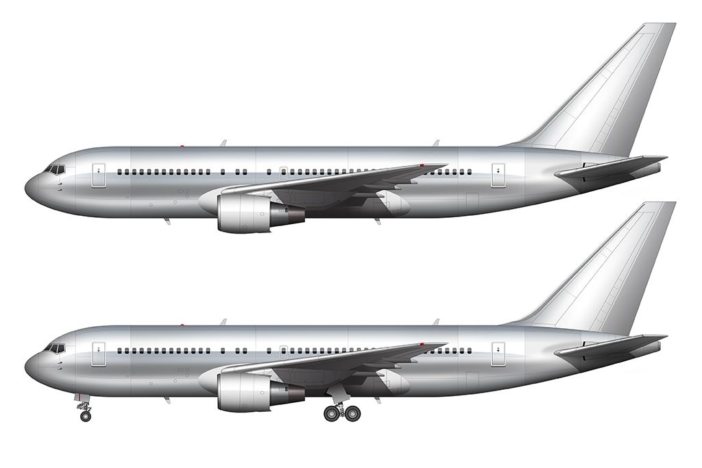 polished aluminum 767-200