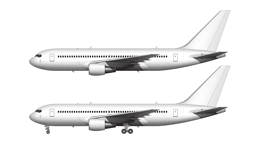 767 side profile all white