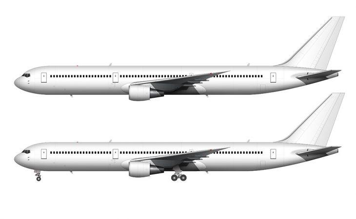 blank white 767-400