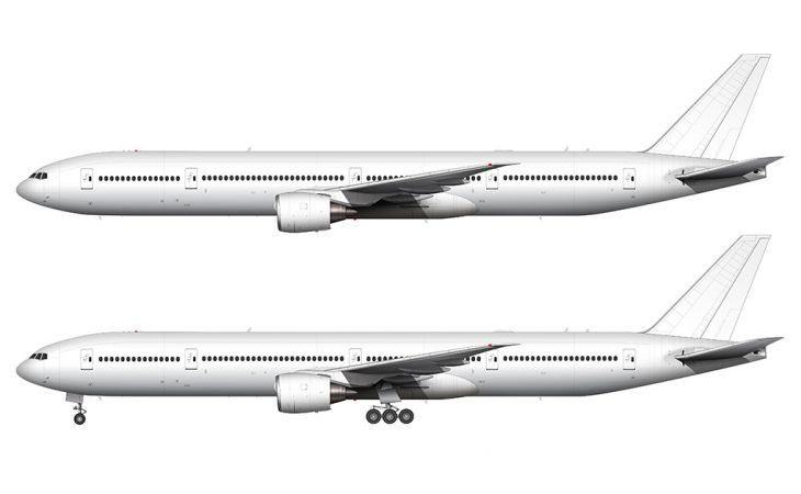 boeing 777-300 side view