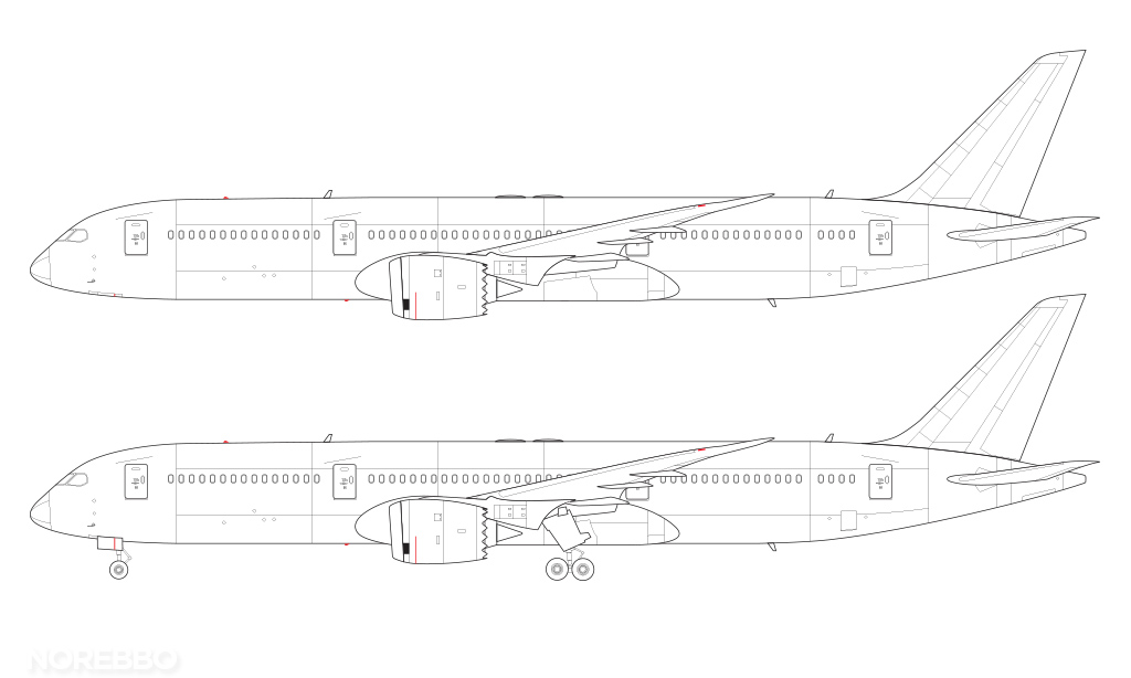 Xfig Line Drawing : Boeing blank illustration templates norebbo