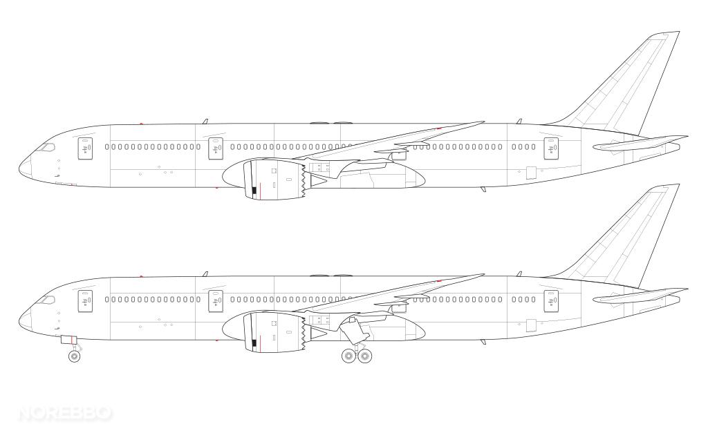 787-9 line drawing