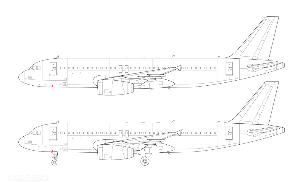 a320 rakelets v2500 engines