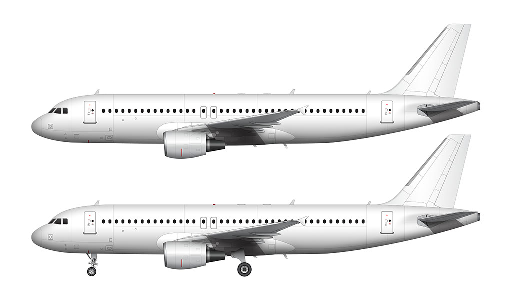 A320 blank illustration