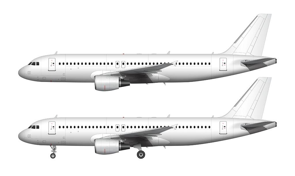 A320 blank illustration