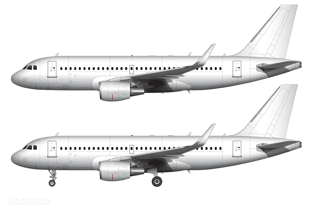 A319 all white with sharklets