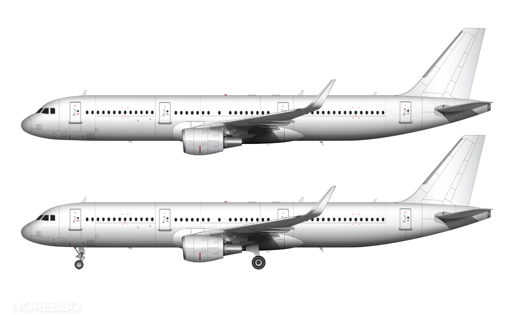 A321 all white cm56 engines and sharklets