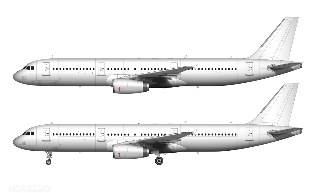 A321 v2500 engines and rakelets