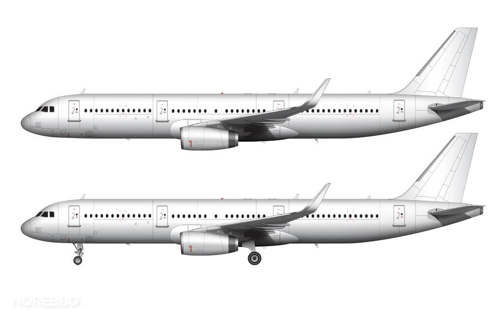 A321 all white sharklets