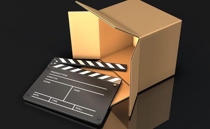 movie delivery stock photo