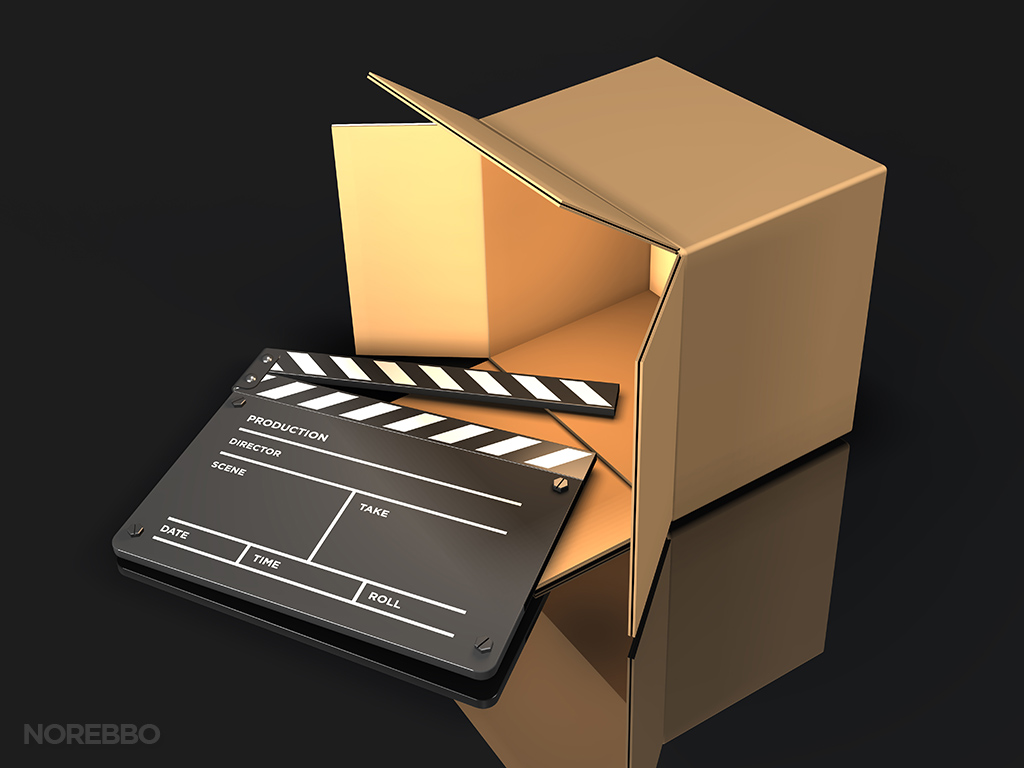 movie delivery stock photo