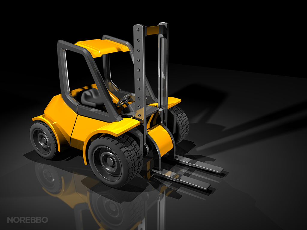 yellow forklift illustration