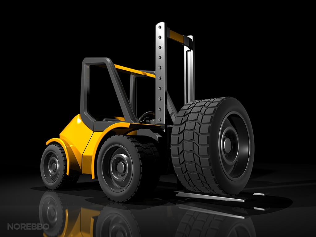 Fork Lift Wheels : D renderings norebbo