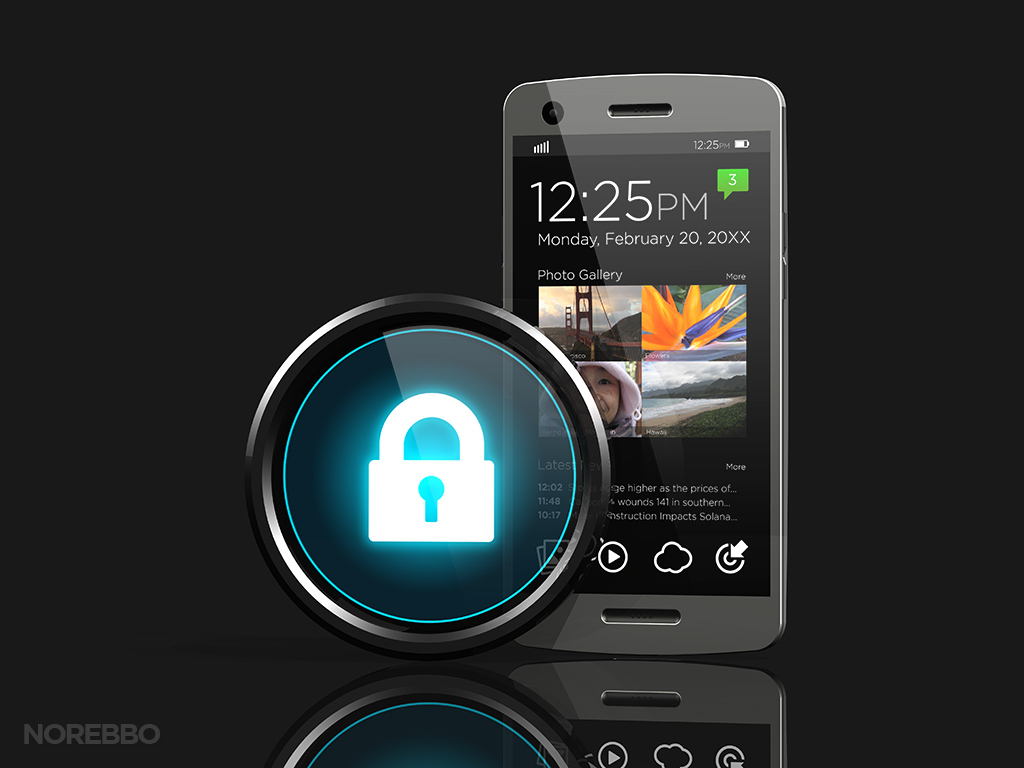 Locked Smart Phone