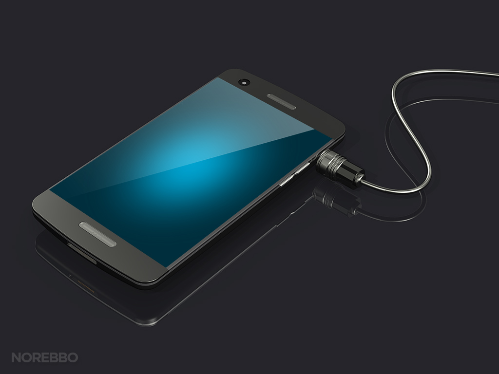 Smart Phone with Connected Cord