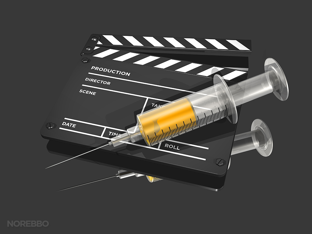 movie addiction stock illustration