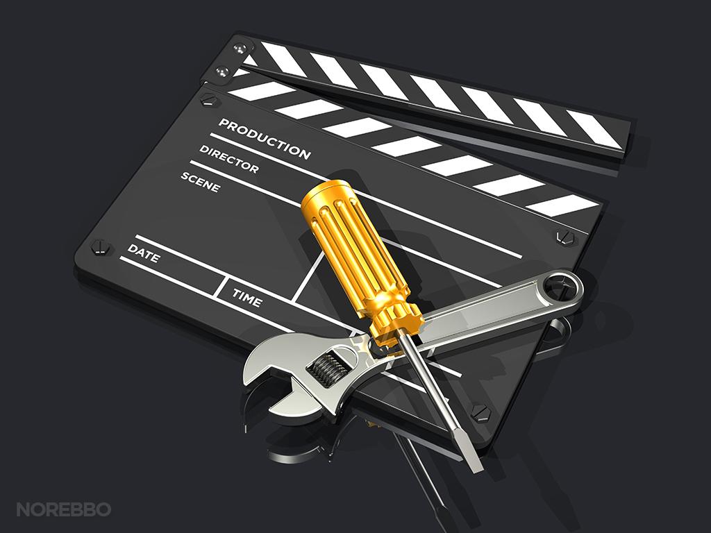 making movies stock photo