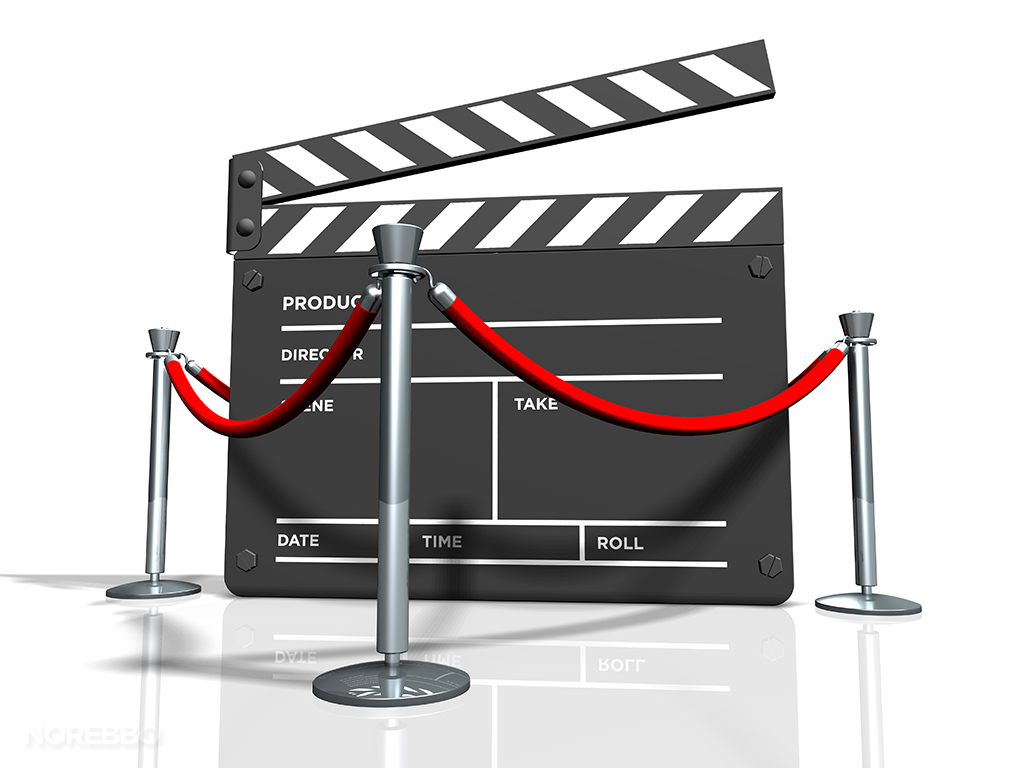 movie premier stock photo