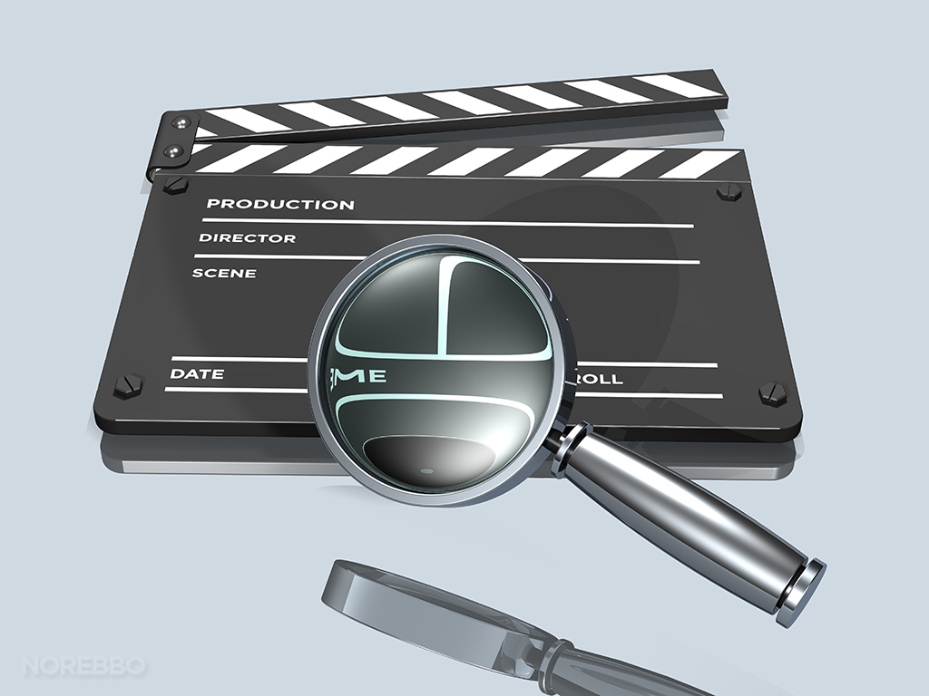 movie research stock illustration