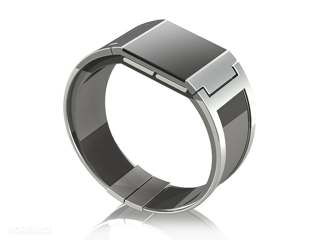 silver smart watch