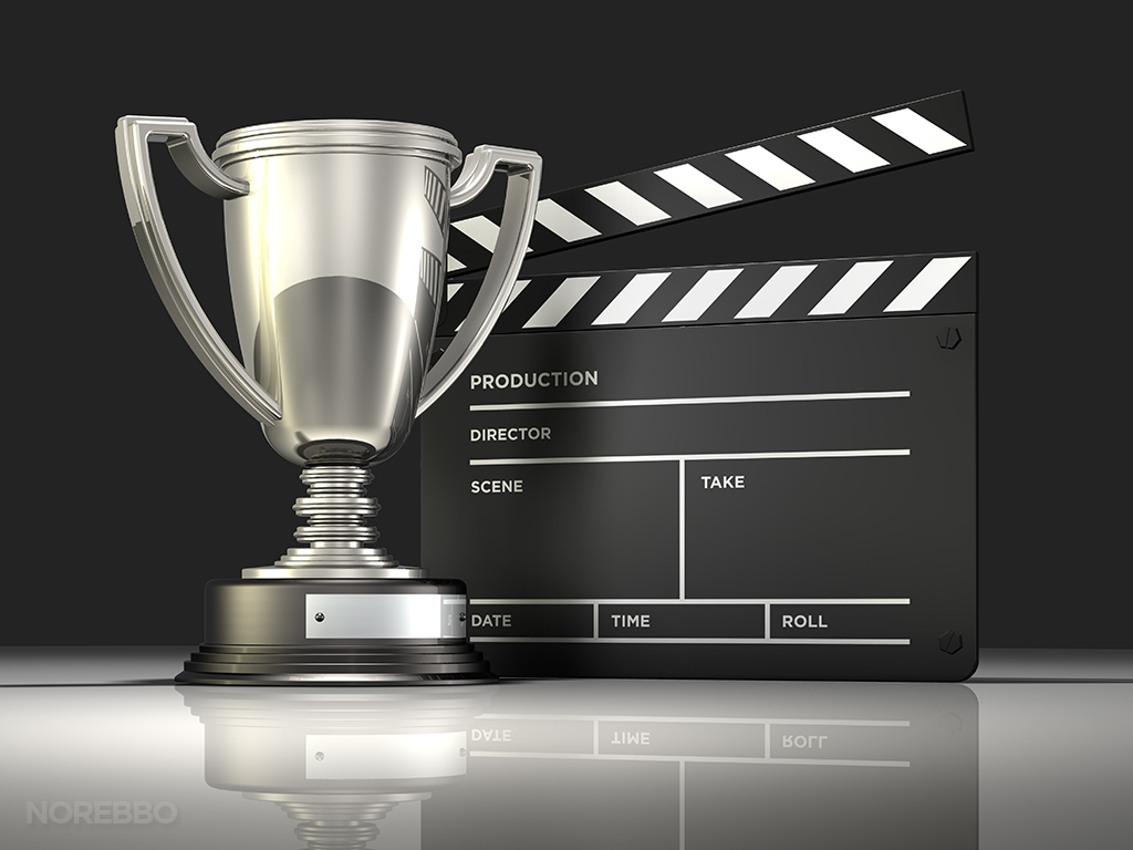 award winning movie stock photo