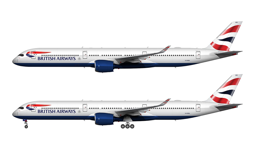 British Airways Airbus A350-1000 livery