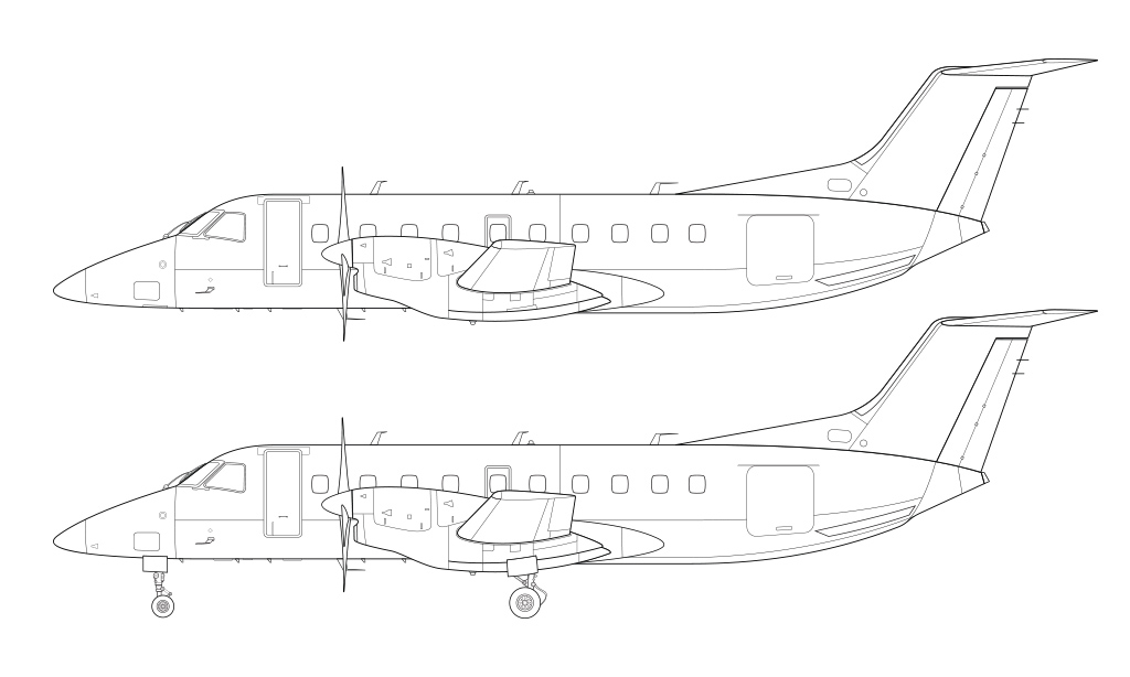 mb-120 line drawing